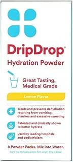 Drip Drop Hydration Powder Lemon Flavor 8 Packets Per Box (4 Boxes)