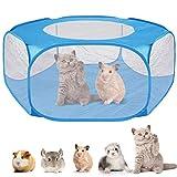 DaMohony Parque portátil para mascotas, carpa de jaula de animales pequeños con cubierta con cremallera, para hámster, chinchillas, cobayas y cerdos