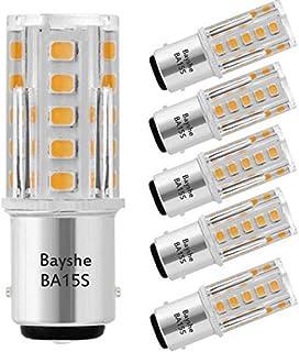 Bayshe 3W 12V BA15S S8 SC Bayonet Single Contact Base 1156 1141 LED Light Bulb 2700K Warm White,Low Voltage AC/DC 12volt L...