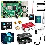 LABISTS Raspberry Pi 4 4B-32GB(技適マーク入)MicroSDHCカード32G/NOOBSシステムプリインストール/カードリーダ /5.1V/3A Type-C スイッチ付電源/MicroHDMI-to-HDMIケーブルライン/三つヒートシンク/簡単に取り付けケース/日本語取扱説明書