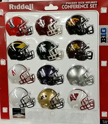 NCAA Pocket Pro Helmets, Big Ten Conference Set, (2013) New