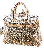 AM Landen Gold Rhinestone Handbag Keychains Handbag Charms PurseGift Key-chains