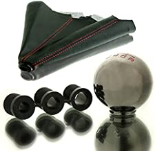 LT Sport SN#100000000847-0843-222 for Mitsubishi Round 5-SPD Shift Knob+Black Boot Cover