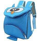 Mochila para niños pequeños, cómoda Mochila portabebés, Lindo paño Oxford para Viajes Escolares de 3 a 6 años de Edad(Owl Blue)
