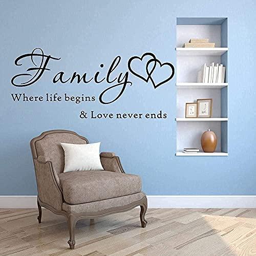 wwhhh pegatinas de pared papel tapiz de letras pegatinas de pared mural de amor inmortal decoración del hogar 43X19cm