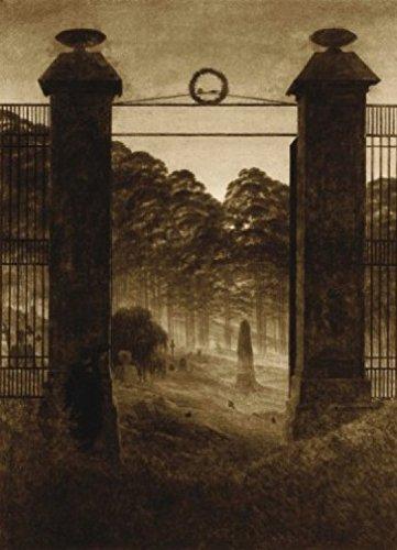 1art1 Caspar David Friedrich - Friedhofseingang, 1825, Sepia, 2-Teilig Fototapete Poster-Tapete 250 x 180 cm