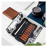 Destornillador De Precisión Set 62 En 1 Torx Tornillo bit bit bits Multítimo Herramientas De Reparación De Teléfonos Móviles Aislados (Color : Black Orange)