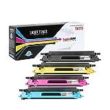 4-Pack Compatible Brother TN-115 Toner Cartridges (1 Black,1 Cyan,1 Magenta,1 Yellow) for use with Brother MFC 9440CN 9450CDN 9840CDW / HL 4040CDN 4040CN 4070CDW / DCP 9040CN 9045CDN Printer