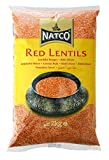 Natco - Lentejas (2 kg, 2 unidades), color rojo