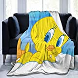 SDINAZ Bed Throws Soft Twee-ty Bird Plush Throws Blanket Micro Fleece Blanket for Womens Mens Boys Girls Flannel Blankets for Chair Sofa Bed Car Bedroom Home Office Lightweight Gift(40in50in)