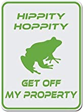 TGDB Hippity Hoppity Get Off My Property Frog No Tresspassing Novelty Sign Aluminum Metal Tin Sign Plate Aluminum Caution Metal Sign