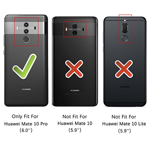 HOOMIL Handyhülle für Huawei Mate 10 Pro Hülle, Premium PU Leder Flip Schutzhülle für Huawei Mate 10 Pro Tasche, Schwarz - 3