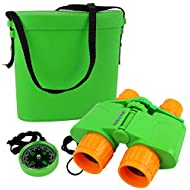 Click N' Play Nature and Wildlife Exploration Kids Binocular Set with Case and Compass