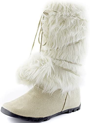 DailyShoes Women's Warmer-02 Mukluk Excellence Boots Toe Faux Fur Super sale period limited Round Ank