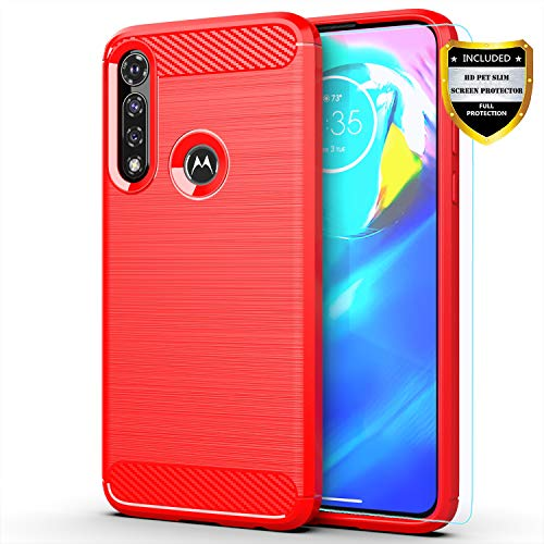 Moto G Power case,Motorola G Power case,with HD Screen Protector,MAIKEZI Soft TPU Slim Fashion Non-Slip Protective Phone Case Cover for Motorola Moto...