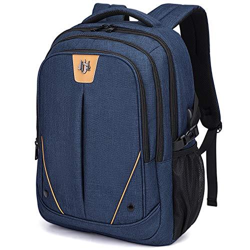 WindTook 15,6 Zoll Laptop Rucksack Notebook Daypack mit USB-Ladeanschluss Herren Damen, für Business Schule Uni Alltag, Blau