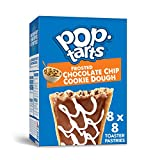 Pop-Tarts, Breakfast Toaster Pastries, Frosted Chocolate Chip Cookie Dough, Proudly Baked in the USA, 13.5oz Box (Pack of 8)