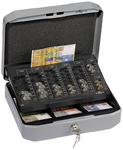 Durable 176057 Geldzählkassette (für CHF, Größe S) 1 Stück anthrazit/grau