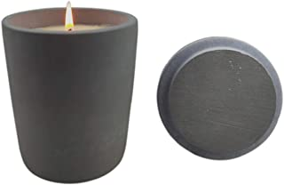 FREELOVE Concrete Jar Candle Soy Wax Aromatherapy Candle, 7.4 oz up to 45 Hour Burn Time (Free Forest, Small Jar Candle)