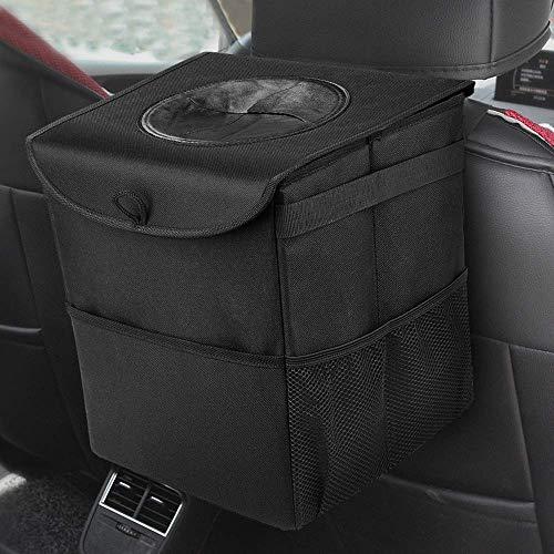 Kriogor Auto Mülleimer mit Deckel, IP68 Wasserdicht Faltbar Abfalltasche Auto Organizer Tasche für alle Autos