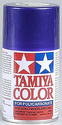 Tamiya America, Inc Polycarbonate PS-18 Metallic Purple, Spray 100 ml, TAM86018