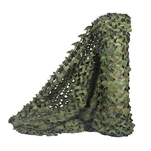 Rouleau de treillis de camouflage Sitong de grande taille - Idéal pour le camouflage, la chasse, la décoration militaire - Parfait pour faire de l'ombre, Bois, 1.5Mx2.5M(4.9ftx8.2ft)