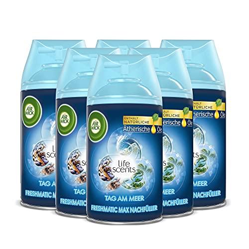Air Wick Freshmatic Max Raumspray – Nachfüller für den Air Wick Freshmatic Max – Duft: Tag am Meer – 6 x 250 ml Nachfüller