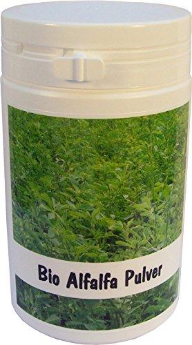 SANOS Bio Alfalfa Pulver, 100g aus eigenem Anbau frisch vom Bodensee
