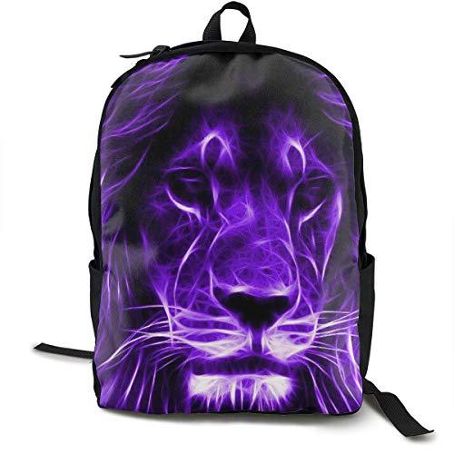 Lion Face Travel Computer Bag Laptop Backpack Unisex, School College Fits 15'' Laptop