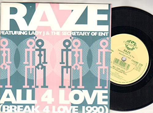 RAZE - ALL 4 LOVE - 7 inch vinyl / 45