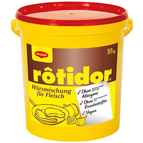 Maggi Rôtidor Universal Würzmischung (o.k.A. für Fleisch und Gemüse, Trockenmarinade zum Grillen und Braten) 1er Pack (1 x 10kg Eimer)