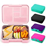 Simple Modern Porter Bento Lunch Box for Kids - Leakproof Divided Pink Container with 5 compartments...