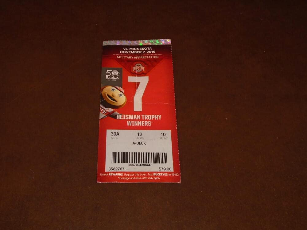 2015 Max 59% National products OFF MINNESOTA AT OHIO FULL STATE FOOTBALL TICKET