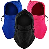 3 Pieces Kids Winter Hats Balaclava Fleece Windproof Ski Face Cover Scarf Cold Weather Outdoor Sports Hats Neck Gaiters for Kids