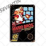 Blechschild Vintage Metall Poster Super Mario Wandaufkleber