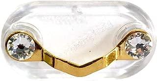 Readerest Magnetic Eyeglass Holder, Made with Genuine Swarovski Crystals, 23k Gold Plated