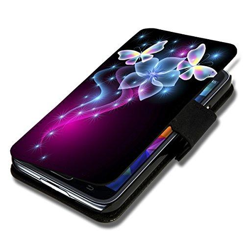 wicostar Book Style Flip Handy Tasche Hülle Schutz Hülle Schale Motiv Etui für Huawei Ascend Y330 - Flip X12 Design10
