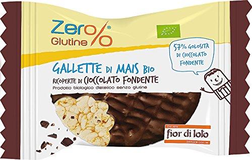 Fior di Loto Gallette di Mais Ricoperte di Cioccolato Fondente, Bio - 32 gr, Senza glutine