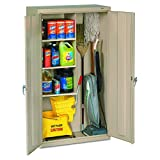 Tennsco Janitorial Cabinet, 36' by 18' by 64', Putty