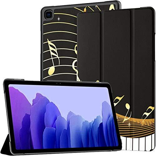 Teclas de Piano artísticas románticas con Notas Musicales Funda para Tableta Samsung Galaxy Tab A7 Funda para Tableta Samsung de 10,4 Pulgadas Funda para Tableta Samsung con activación/suspensión a