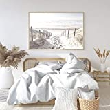 N / A North Sea Dunes Seascape Art Canvas Painting Poster and Print Pictures for Living Room Decoración de Interiores del hogar Sin Marco 50x70 cm
