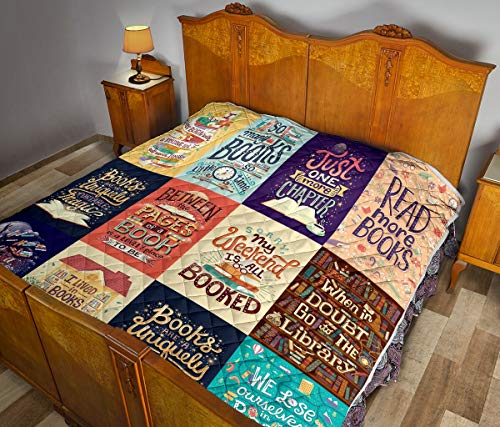 Wecco Books Quilt Twin Size - Unique 3D Design, Suitable for All Seasons with Mellow Cotton Material Comfortable and Luxurious.