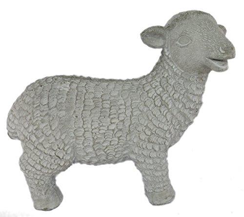 Decoline Gartendeko Steinfigur Schaf stehend 26 x 11,5 x 20,5cm