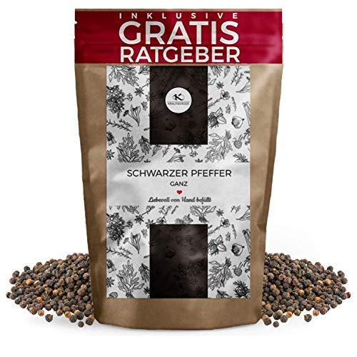 Hele zwarte peper 250g | Gourmet peper zwart incl. Gratis advies | Kwaliteitspeperbollen voor pepermolen - specerijen in een navulverpakking