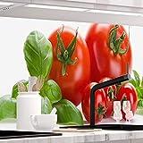 StickerProfis Küchenrückwand selbstklebend Premium Tomaten 1.5mm, Versteift, alle Untergründe, Hartschicht, 60 x 340cm