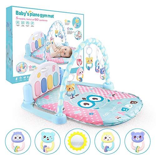 Speel Mat Activity Gym Voor Baby, Baby Game Pad Music Pedal Piano Met Opknoping Toys, Spelen Tapijt Voor 0-36 Maand Jongens En Meisjes