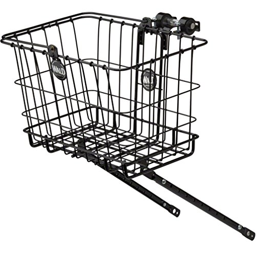 Great Price! Wald Small Multi-Fit 3133 Front Handlebar Bicycle Basket w/Rack Combo (Black)