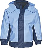 Playshoes Unisex Kinder Regenjacke 3 in 1 Jacke, Marine/Hellblau, 104 EU