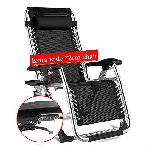 Accueil extérieur/Chaise Pliante Outdoor Zero Gravity Patio Sun Loungers Chair in Garden Outdoors Fauteuil de Plage inclinable Pliant avec Coussins Prend en Charge Une Chaise de Camping lé