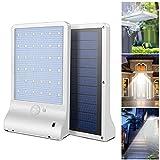 DAMIGRAM Luces sensor solares LED, 36 LEDs Focos Luz Paredes LED...